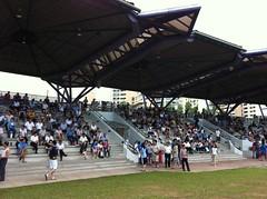 Crowd at the Serangoon Stadium waiting for the Rally