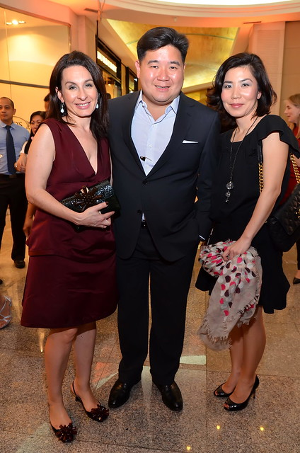 Marc Jacobs Regional Director of Asia Pacific Region Emmanuelle Mace-Driskill, Anton Huang, and Marc Jacobs Retail Brand Manager Serena Ghim