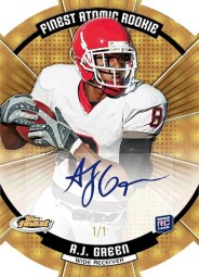 2011 Topps Finest Football AJ Green Autograph 1/1 Atomic RC