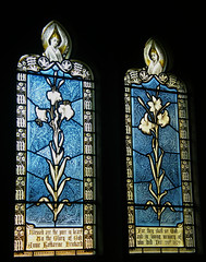 """Stained glass in Mapledurham St. Margaret's Church"""