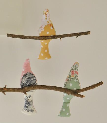 mobile oiseaux rose (10)