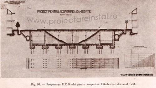 poza 18 - Propunerea UCB-ului pentru acoperirea Dambovitei din anul 1934