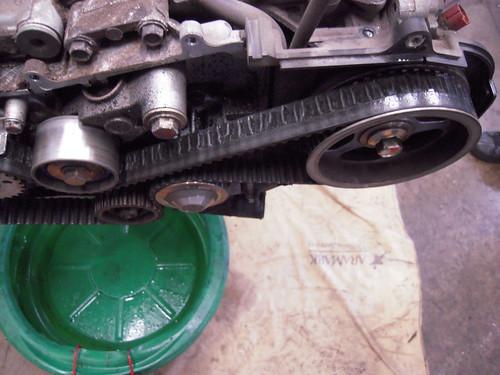 Damaged Subaru  Timing Belt