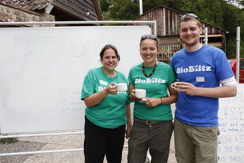 Savita, Vicky and Matt: three of the key organisers