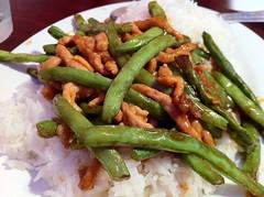 Sliced Pork with String Beans & Rice - Shanghai Cafe