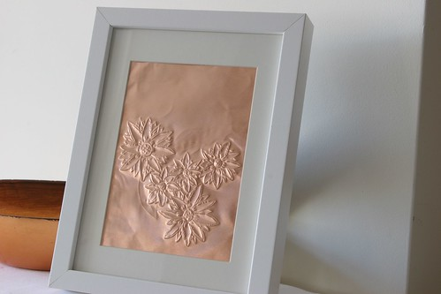 Framed copper art