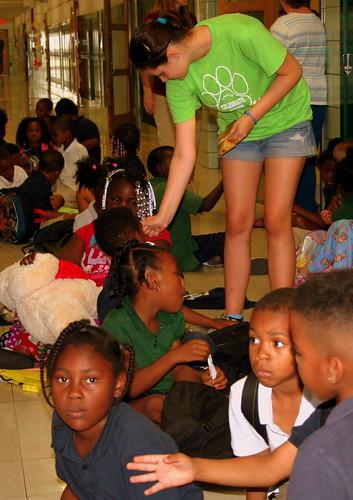 Megan Helping at School