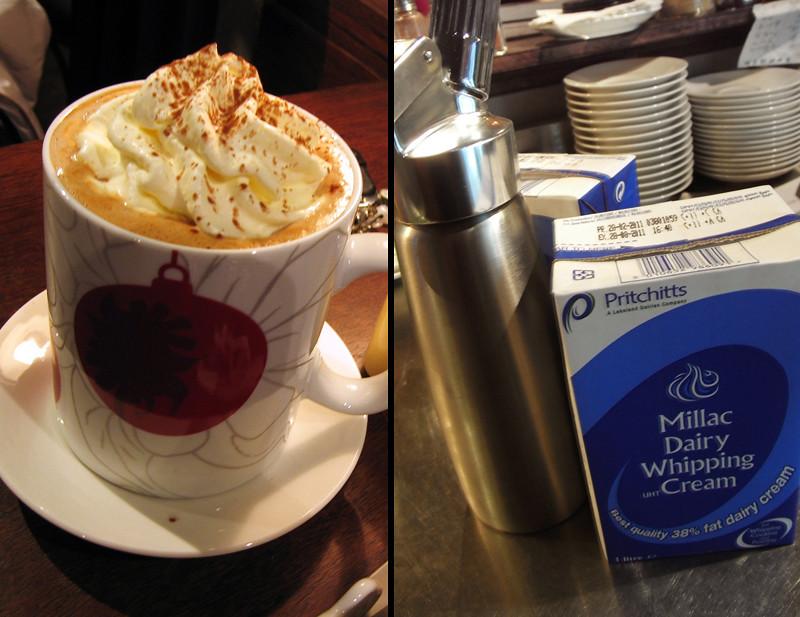 臺北大直 穆勒咖啡館 (自家烘焙公平貿易咖啡): 關於鮮奶油、奶油、奶球與一些有的沒有的。(上)