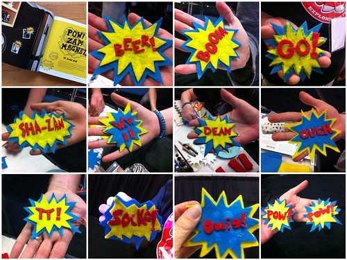 POW! Magnets people made at WebVisions!