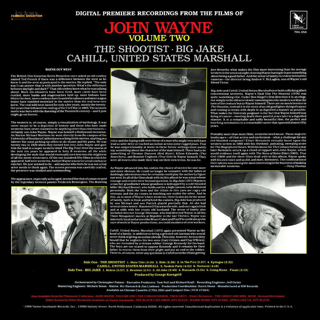 Elmer Bernstein - The Films of John Wayne, Vol.2