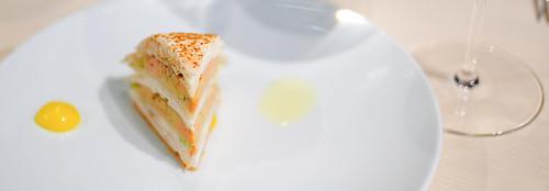 1st Course: Foie gras Mariné au Verjus