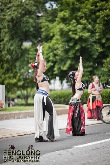 Belly Dancers of Awalim Tribal Dance Company at Atlanta Streets Alive - Saturday June 11th, 2011