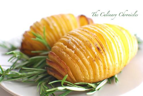 Rosemary-Garlic Hasselback Potatoes