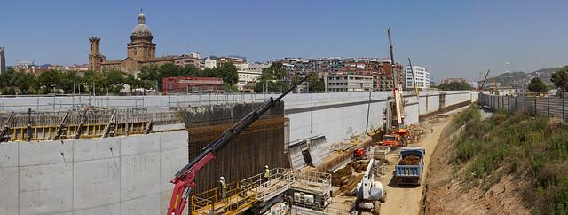Panorámica zona estació de Sant Andreu - 21-06-11
