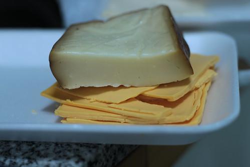 Cheddar y mozzarella ahumada