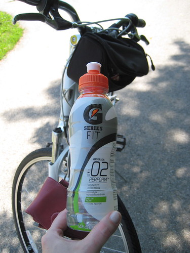 G Series Fit gatorade melon pear drink, bike