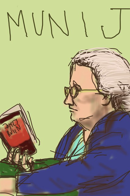 Portrait of a reader on the MUNI J line