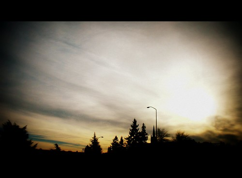 Highway Sunset, Seattle, 2011