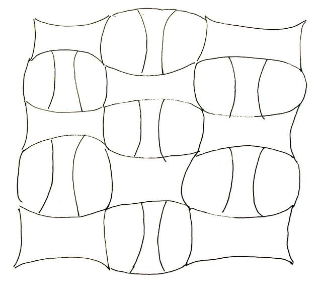 Quilt Pattern Sketches ~ Modern Lamp
