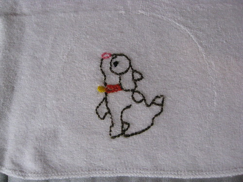 closeup dog cloth