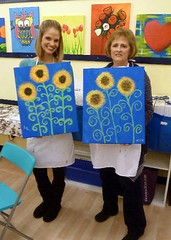 Painting Sunflowers with Mom