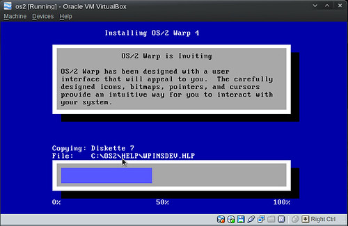 OS/2 initial text install