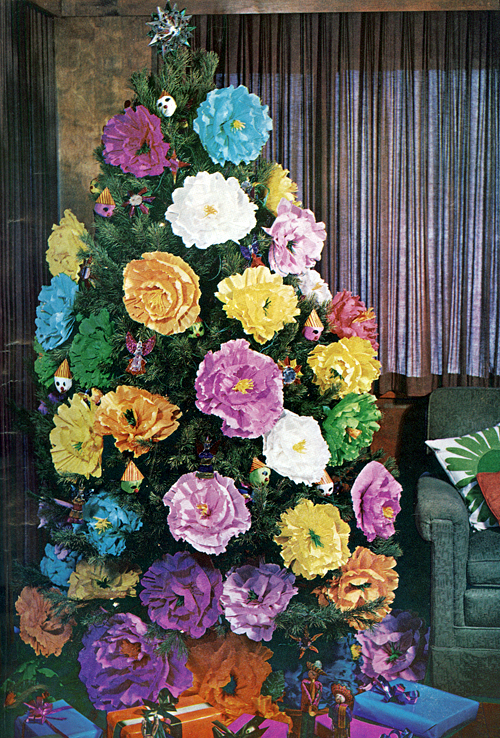 Mid Century Living Xmas Tree Decorating Ideas From 1969