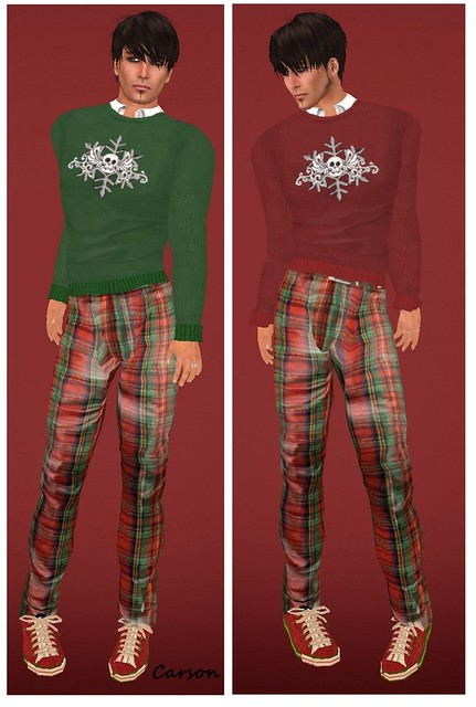 HB - Louis Xmas - Pants HB - Nick - Green and Red