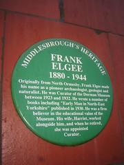 Frank Elgee Plaque, Dorman Museum
