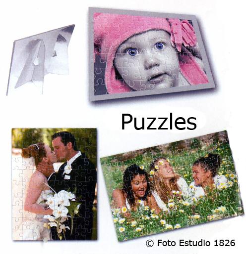Puzzles con distintos acabados y en distintos tamaños