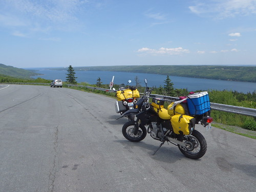 Look at this beautiful weather over the Bras d'Or Lake (I think)