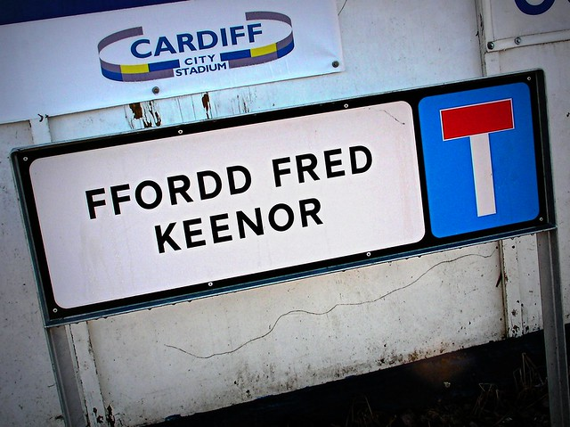 Fred Keenor Road Sign near CCFC Stadium