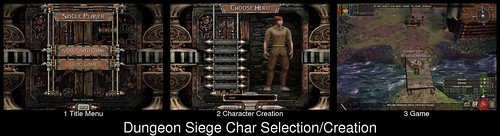 Character Creation in Dungeon Siege (spoiler: there is none)