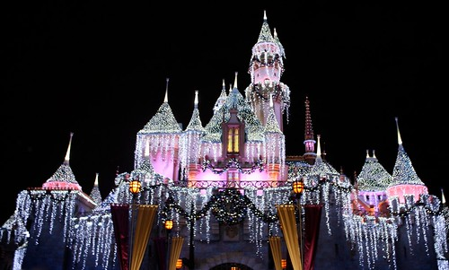 And a very sparkly Holiday Snow White's Castle