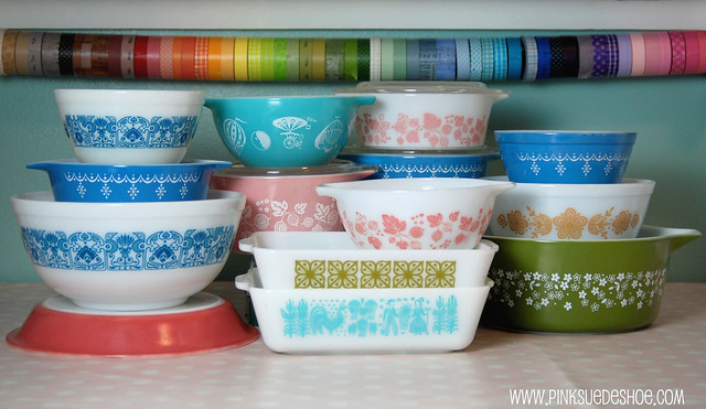 pyrex collection Jan 1, 2011