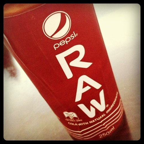 Pepsi Raw: made in UK for US company now in Australia.