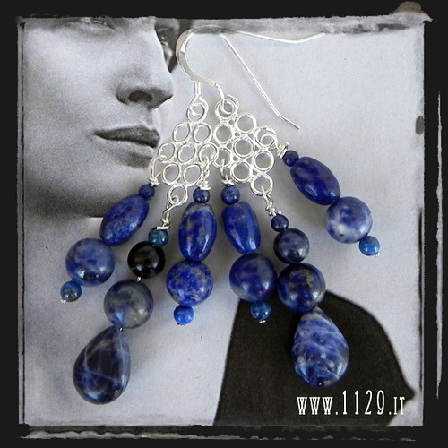 MALAPIS orecchini argento lapis lapis silver earrings
