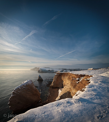 snow at Freshwater Bay