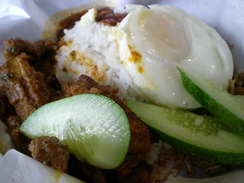 KLIA nasi lemak with chicken rendang
