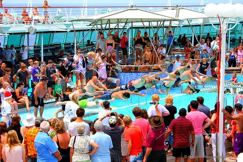 Mens Belly Flop Competition