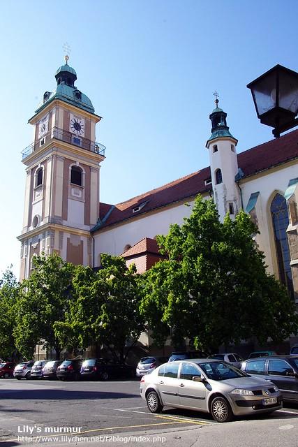 還是The Stolnica 教堂,從另外一個角度拍攝。