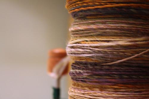 365.5 yarn on the bobbin