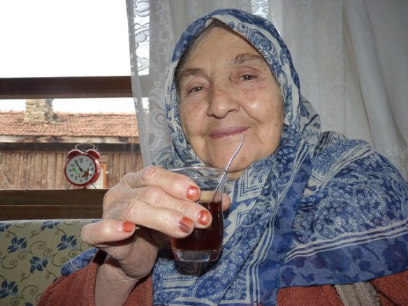 A typical old Turkish woman..