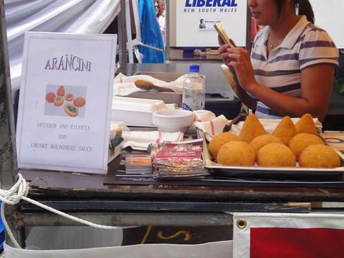 Dulwich Hill Street Fair: Arancini from Gladstone Hotel