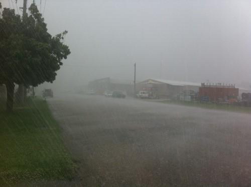 Rain on Monday