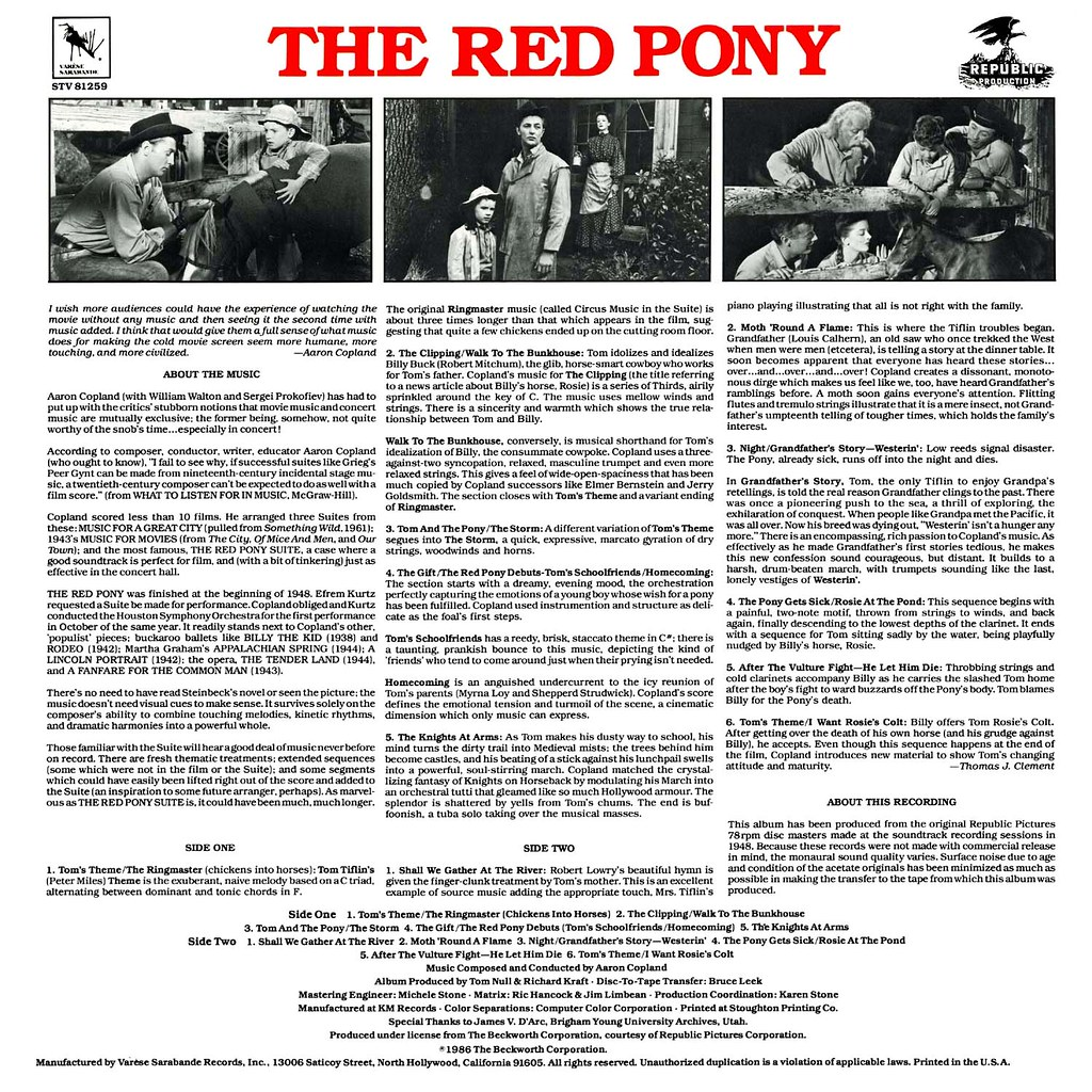 Aaron Copland - The Red Pony