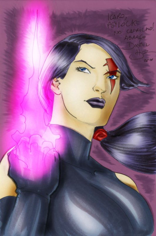 Psylocke sketch color version