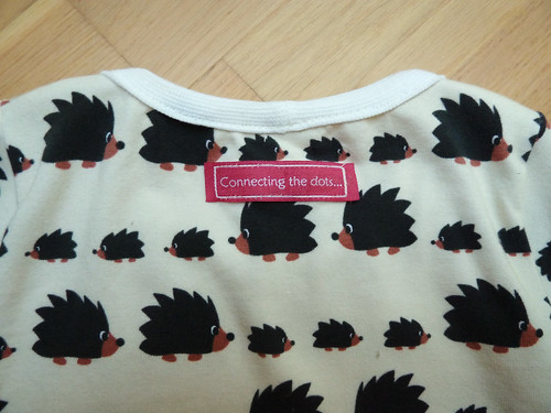 Hedgehog nightgown - my new woven label