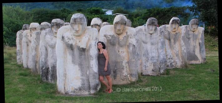 Memoriale dell'Anse Caffard, vicino al paese di Diamant.