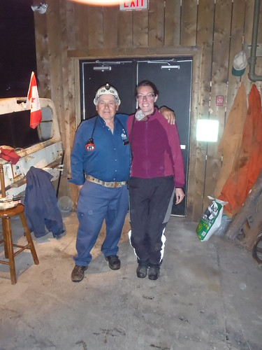 Sheldon Gouthro, our mine guide, and yours truly